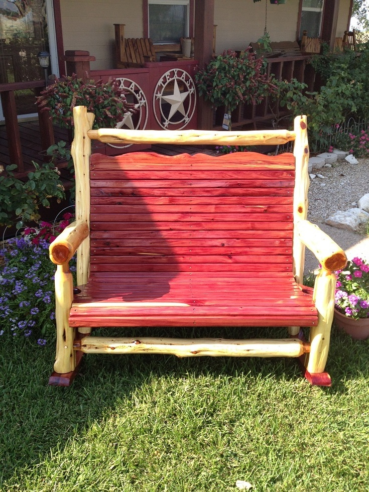 Natural Post Cedar Double Rocker