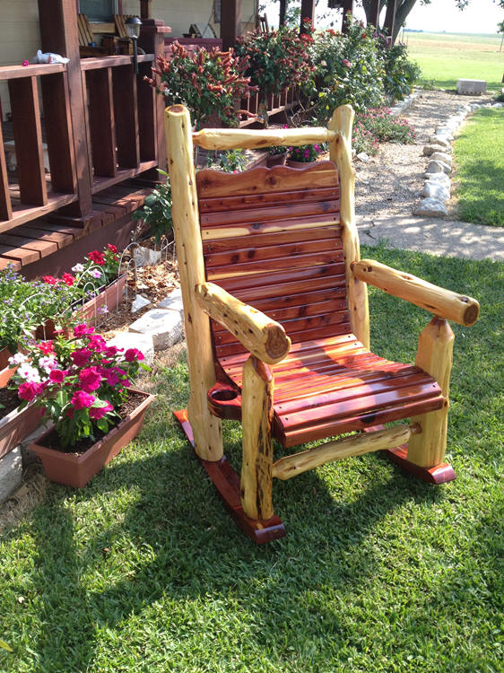 Natural Post Cedar Rocker