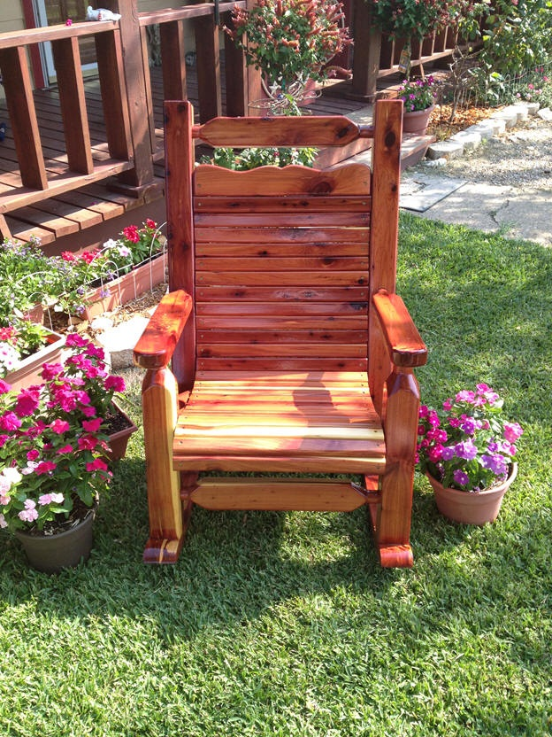 Square Post Cedar Rocker